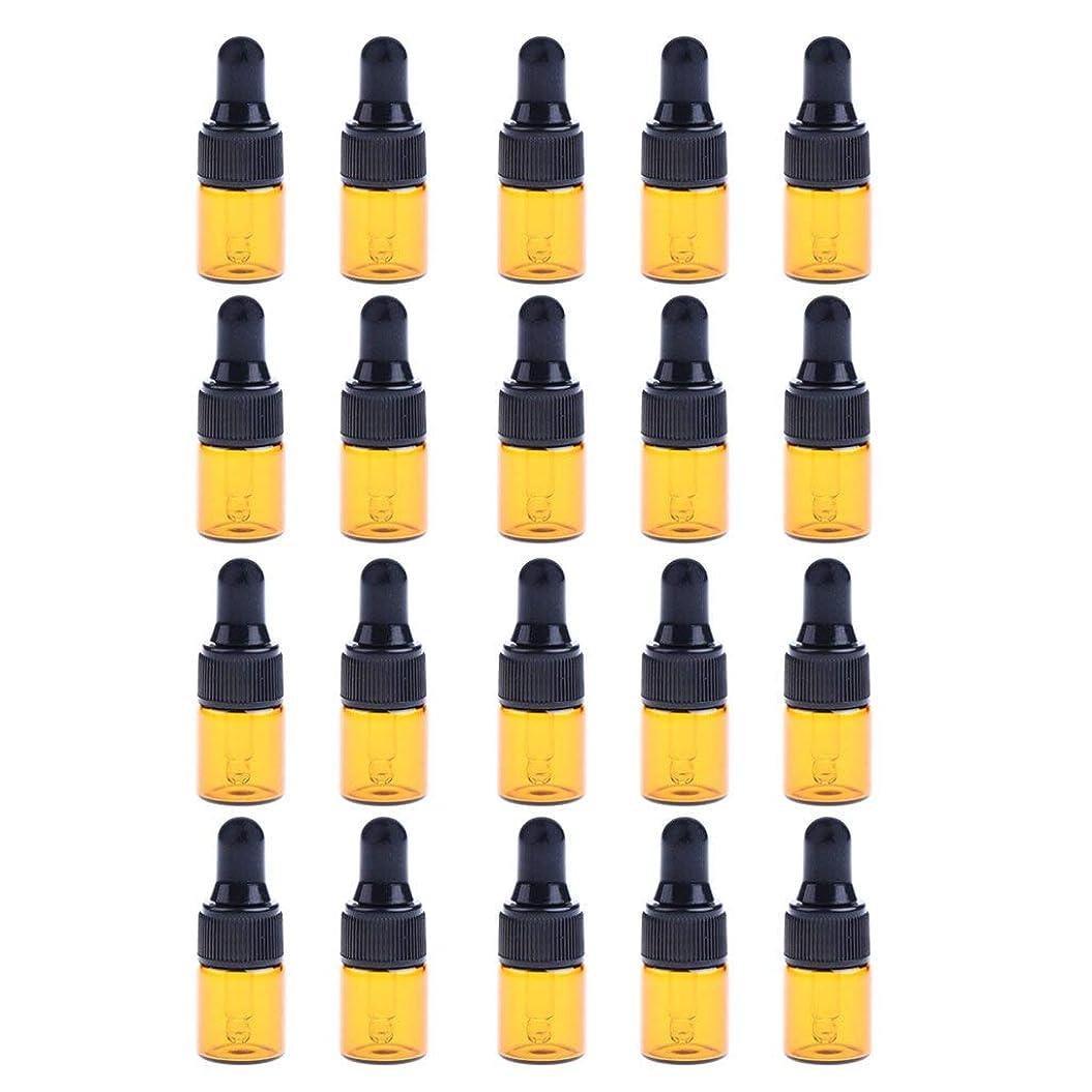 読者ひも異議約20個 ドロッパーボトル エッセンシャルオイル ミニサイズ 詰め替え可 ガラス スポイトボトル