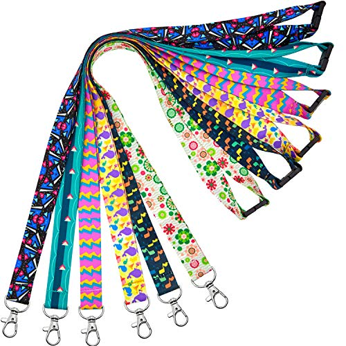lanyards for id Badges Cruise Lanyard for Keys Kids Women id Badge Holder Hall Pass Card Lanyard for Kid Ship Card Breakaway Safety Quick Release Office Neck youowo Lanyards Wide 2cm 6 Pack 0.787inch