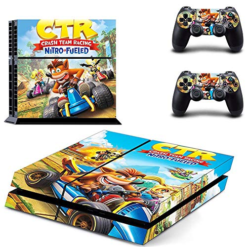 TSWEET Crash Team Racing Nitro Fueled Ps4 Skin Sticker Decal For Playstation 4 Console And 2 Controller Skins Ps4 Stickers Vinyl