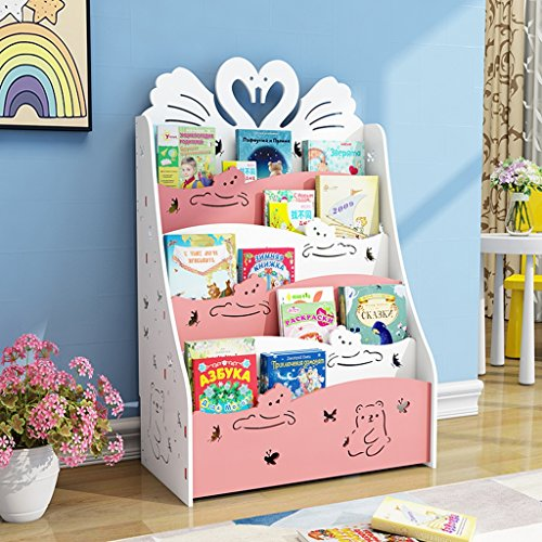 Weq Estantería para niños Estantería para Guardar Libros Estantería para niños Estantería para niños Estante al Frente Estante para Libros (Color : Pink)