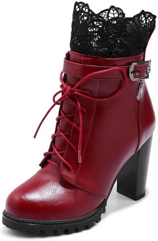 BalaMasa Womens Casual Comfort Round-Toe Microfiber Boots