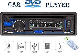 Estéreo para el coche 1 DIN 12 V con reproductor de CD, DVD, Bluetooth, MP3, USB, SD, TF, AUX, radio FM/AM y RDS con mando a distancia de Lling (TM)