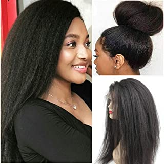 Glueless 360 Lace Frontal Wigs Straight Human Hair Wig with Baby Hair Pre Plucked Italian Yaki Lace Front Wigs For Women 1...