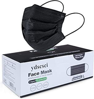 Face Mask, Disposable 3 Ply Face Masks Protective Breathable Facial Mask for Adult Men Women Indoor Outdoor Daily Use 50 P...