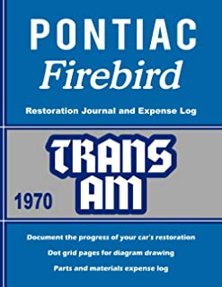 1970 TRANS AM - Restoration Journal and Expense Log Book: Document the progress of your car's restoration. Keep track of p...