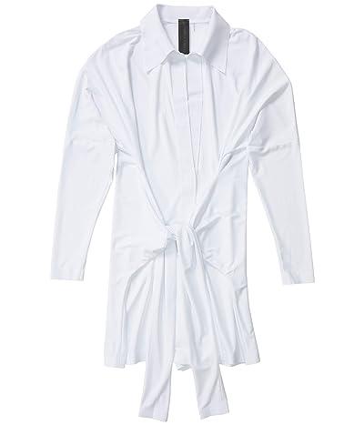 KAMALIKULTURE by Norma Kamali Tie Front NK Shirt Jumpshorts (White) Women