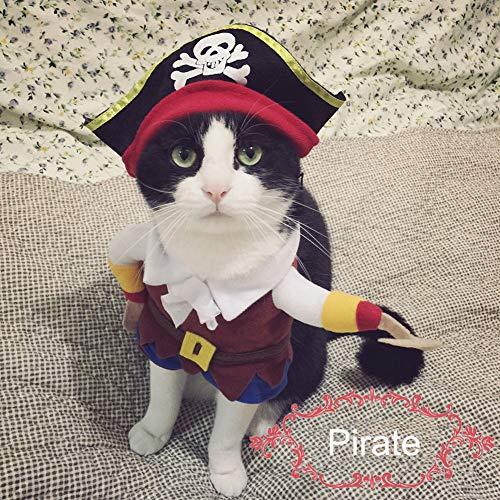 Smoro Costume da Pirata Divertente Vestito Super Carino Costumi corsari Vestire Abiti da Festa per Cani Gatti
