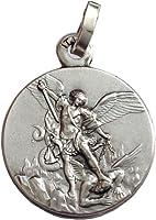 Medalla de San Miguel Arcángel - Plata de Ley 925 - Patrón de la Policía - 100% Made in Italy