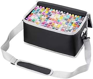 أقلام تحديد ملونة ملونة برأسين، تحتوي على 168 لوناً، مجموعة أقلام تحديد ملونة متينة للأطفال والكبار بتصميم مانجا