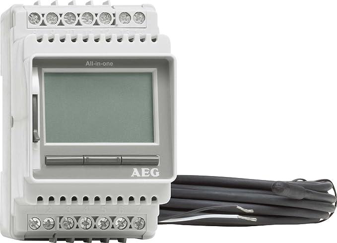 Silber AEG FRTD 903 S Komfort Fu/ßbodentemperaturregler 231682 LCD-Display