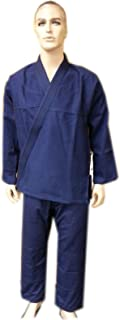 Woldorf USA Brazilian jiu Jitsu Kimono Pearl Weave Gi Competition Uniform Navy Blue with Ripstop Pant A3 NO Logo