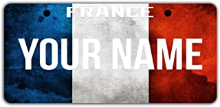 BleuReign TM Personalized Custom Name License Country Flag Plate Bicycle Bike Moped Golf Cart 3