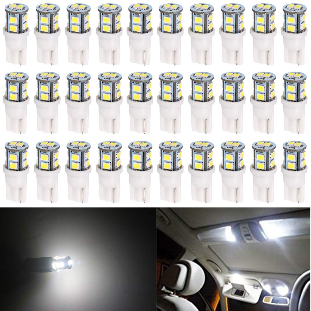 3014 Chipsets 30-SMD YITAMOTOR 2825 W5W T10 LED RV Interior Light Bulbs for License Plate//Dome//Map Lights for Car Truck 4-Pack Non-Polarity 12v-24v 194 168 LED Bulb White 6000k-6500K