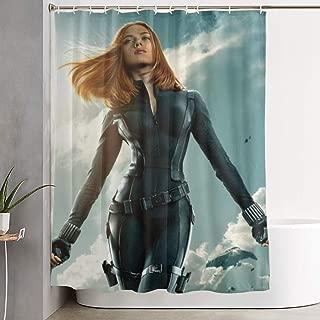 JUEGAILIAN Johansson Shower Curtain 60X72Inch / 150X180Cm with HD 3D Print