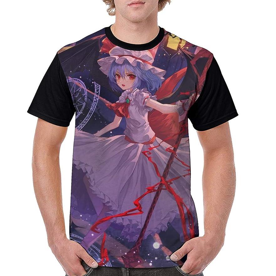 ヘッドレス押し下げる扱う東方Project レミリア?スカーレット 7 Tシャツ メンズ 半袖 綿 ゆったり 薄手 夏 おしゃれ おおきいサイズ