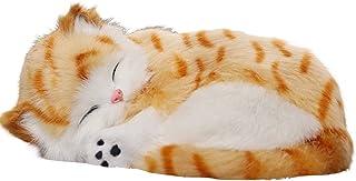 WINOMO Aktivkohle Geruchsvernichter für Autos, Simulation, Tier Dekoration, Plüsch Spielzeug für Auto, Zuhause, Büro (orangefarbene Katze)