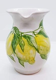 Brocca Linea Limoni 18 x 17 cm Realizzata e Dipinta a mano Le Ceramiche del Castello Nina Palomba Pezzo Unico