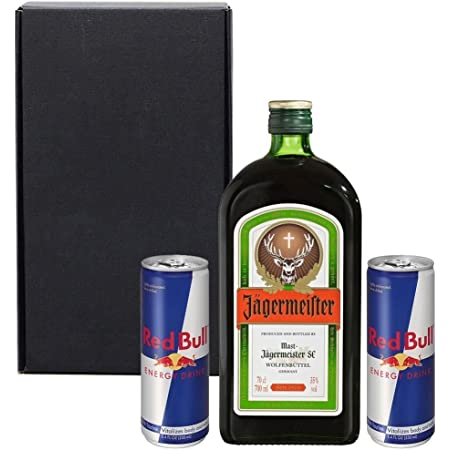 Jagerbomb Gift Set In Matt Black Gift Box With Hand Crafted Gifts2drink Tag Amazon Co Uk Grocery