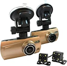 4 Cam 1080P Trucker Dash Cam - Record from 4 viewpoints! Optional GPS!