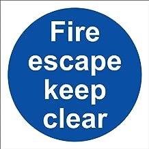 Fire Escape Keep Clear Rigid Sign 10x10cm
