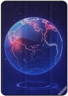 حافظة واقية لجهاز آبل آيباد برو الجيل الأول 11 بوصة (2018) إضاءة الكرة الأرضية الزرقاء