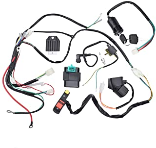 minireen complete electric start engine wiring harness cdi coil wiring loom  50cc 110cc 125cc atv buggy
