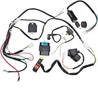 Minireen Complete Electric Start Engine Wiring Harness CDI Coil Wiring Loom 50cc 110cc 125cc ATV Buggy Quad Dirt Bike
