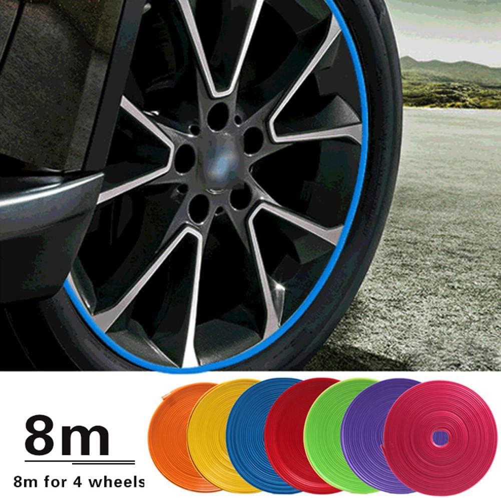 New arrival Popular brand WQSNUB 8 M Car Wheel T Protection Decorative Strip Sticker