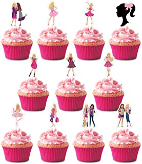 Girl Cupcake Toppers, Happy Birthday Cake Toppers, Party Supplies Favor Cake Decorations