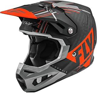 Fly Racing 2020 Formula Carbon Helmet - Vector (Large) (Orange/Grey/Black)