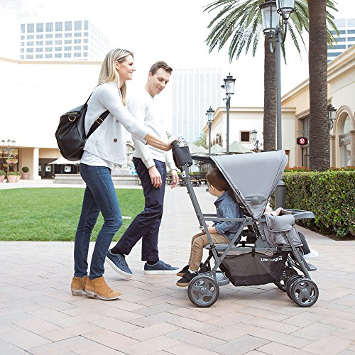 Image of Joovy Caboose Ultralight Graphite Stroller, Black