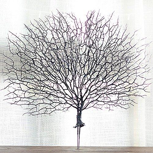 Zreal Künstlicher Korallenzweig, künstliche Zweige, getrocknete Pflanzen, weiße Pflanze, Heimdekoration blau