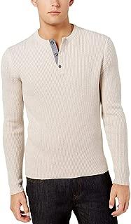 Men's Henley Long-Sleeve Three-Button Sweater