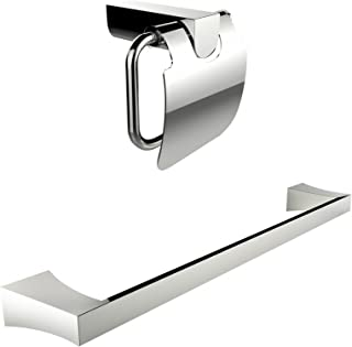2 Pieces Chrome Bathroom Accessory Sets Bathroom Accessories Home Kitchen