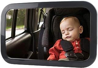 PUBAMALL Baby Mirror for Car - Monitoriza de Forma Segura al niño pequeño en el Asiento Trasero del Auto - Amplia visión 360 ° Ajustable para el Asiento Trasero
