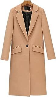 GETUBACK Women Trench Coat Long Sleeve Pea Coat Open Front Long Jacket Overcoat Outwear