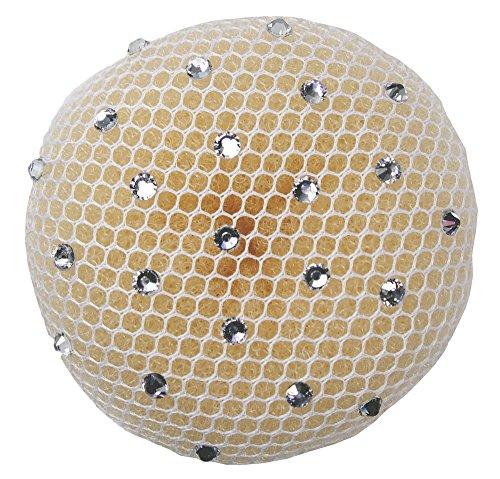 Dutt Haarnetz (crystal) (weiß) | Gymnastik | Rhythmische Sportgymnastik | Ballett | Reiten | Eiskunstlauf | Tanz | Knotennetz