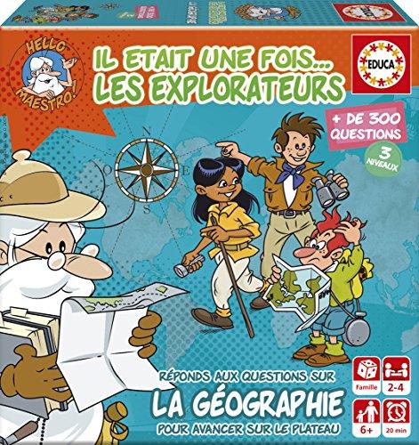 Educa Borrás - 17354.0 - Mini Jeu Il Etait Une Fois… Les Explorateurs Noir