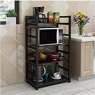 KOKOF Étagère de cuisine multi-couches pour four micro-ondes et assaisonnement, gain de place, rangement et organisation d...
