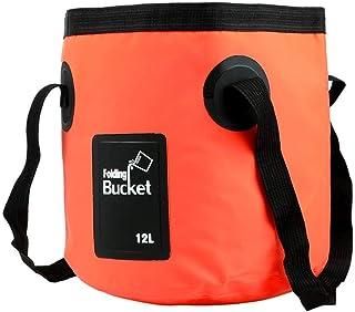ACAO 12Lポータブル防水ウォーターバッグ折りたたみバケットウォーターストレージコンテナキャリアバッグ屋外旅行用