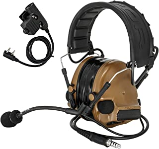 TAC-SKY COMTA III Electronic Tactical Headset Hearing Defender Noise Reduction Sound Pickup (Coyote Brown)