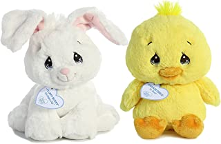 """Precious Moments Collection Gift Set: Chickie Chick and Floppy White Bunny 8.5"""" Plush"""