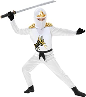 Charades Ninja Avenger Series II with Armor Child's Costume, Small White