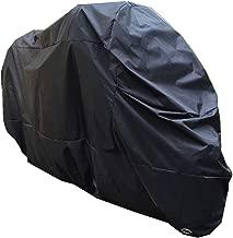 2 voies verrouillable et prot/ég/é du vent- protection parfaite contre la pluie et le soleil carburant XXL Housse de moto de prime faite de mat/ériel 190 T r/ésistante /à la d/échirure