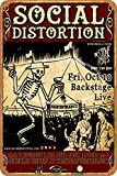 Social Distortion Iron Painting Wall Poster Metal Vintage Band Tin Signs Retro Garage Plaque Decorative Living Room Garden Bedroom Office Hotel Cafe Bar