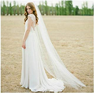 CanB Bride Wedding Veils with Comb 1 tier Cathedral Veil Bridal Hair Accessories