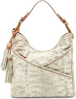 Womens Snake Embossed Hobo Bag Natural OS
