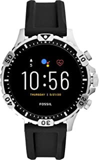 Fossil Garrett Hr Men's Multicolor Dial Silicone Digital Smartwatch - FTW4041