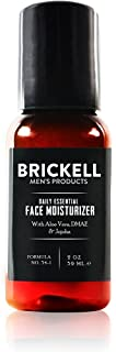 (Unscented, 60ml) - Brickell Men's Daily Essential Face Moisturiser for Men, Natural and Organic Fast-Absorbing Face Lotio...