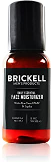 Brickell Men's Daily Essential Face Moisturizer for Men, Natural and Organic Fast-Absorbing Face Lotion with Hyaluronic Acid, Green Tea, and Jojoba, 2 Ounce, Unscented